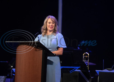 Meals on Wheels Ministry CEO Kari Kietzer speaks during the 45th anniversary banquet held on Tuesday Oct. 2, 2018 at the Crosswalk Conference Center.   (Sarah A. Miller/Tyler Morning Telegraph)