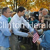 On his way out of the event, Republican vice presidential candidate Paul Ryan, spoke to many of the approximately 600 supporters who attended the event on Tuesday on the lawn of the Clinton County courthouse. • Katie Dahlstrom/Clinton Herald
