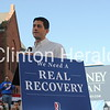 A crowd of approximately 600 people attended a town hall meeting with vice presidential nominee Paul Ryan on Tuesday on the lawn of the Clinton County Courthouse. • Katie Dahlstrom/Clinton Herald