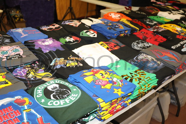 Lot of colorful superhero souvenirs and memorabilia await visitors to the East Texas Rose Comic Con.