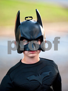 Slater Harvey, 6, of Tyler, wears his Batman costume at Trunk or Treat at the Crown Health Services parking lot in Tyler, Texas Thursday Oct. 29, 2015.  Crown Health Services staff members decked out their cars with Halloween-inspired decorations and free candy for children.    (Sarah A. Miller/Tyler Morning Telegraph)