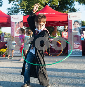 Zachary Mitchell, 7, hula hoops during the Fit City Day in the Park event at Fun Forest Park in Tyler Saturday Oct. 29, 2016. Fit City Coalition sponsored fitness activities such as yoga and zumba classes, health screenings, a plank contest and health related vendors at the annual event.  (Sarah A. Miller/Tyler Morning Telegraph)