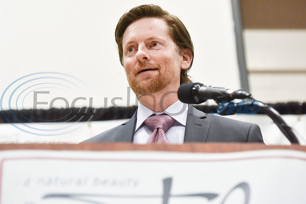 Brent Jasper of Jasper Ventures, Inc. speaks after accepting the Large Business of the Year Award during the Chamber of Commerce's annual meeting at Harvey Convention Center in Tyler, Texas, on Tuesday, Oct. 2, 2018. (Chelsea Purgahn/Tyler Morning Telegraph)