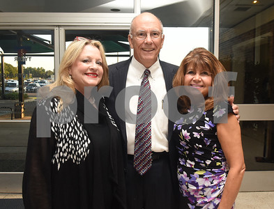 Stephenie Roberts, Randy Roberts and Sharon Mullins attend the Tyler Area Chamber of Commerce annual meeting at Harvey Convention Center Tuesday night Oct. 4, 2016.  (Sarah A. Miller/Tyler Morning Telegraph)