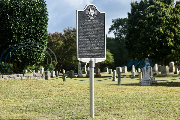 A historical marker is seen during a memorial event hosted by the Charles G. Davenport chapter of the Daughters of the Republic of Texas at Oakwood Cemetery in Tyler, Texas, on Thursday, Oct. 4, 2018.The event honored real daughters, daughters of Texas pioneer families living in Texas during the Republic of Texas era, and members unveiled plaques at the real daughters' grave sites. (Chelsea Purgahn/Tyler Morning Telegraph)