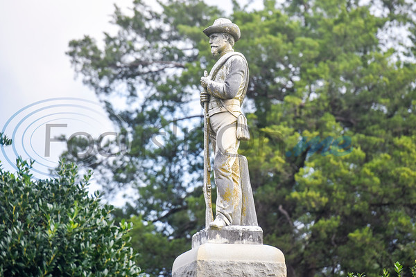 A confederate monument is seen during a memorial event hosted by the Charles G. Davenport chapter of the Daughters of the Republic of Texas at Oakwood Cemetery in Tyler, Texas, on Thursday, Oct. 4, 2018.The event honored real daughters, daughters of Texas pioneer families living in Texas during the Republic of Texas era, and members unveiled plaques at the real daughters' grave sites. (Chelsea Purgahn/Tyler Morning Telegraph)