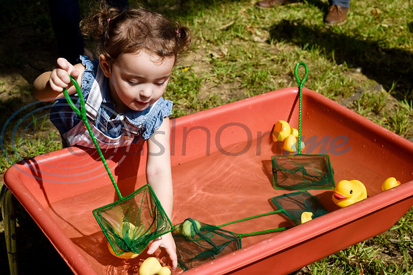 Stella Pinto, 1, plays in the duck pond during the Kids Kaleidoscope Preschool Toddler Fair at Pollard United Methodist Church in Tyler, Texas, on Thursday, Oct. 4, 2018. (Chelsea Purgahn/Tyler Morning Telegraph)