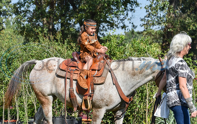 Gracie Guillen, 4, enjoys a pony ride in costume at the 11th Annual Family Fun Day in Jacksonville. The festivities were held at Joe Smith Farms on Saturday, October 5. (Jessica T. Payne/Tyler Morning Telegraph)