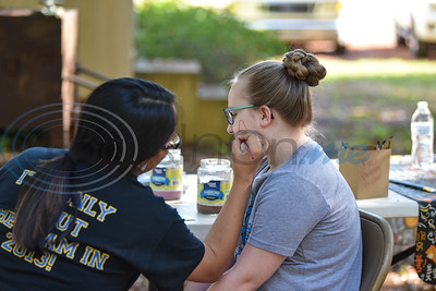 Jennifer Heisler, 9, gets her face painted at the Scarecrow Trail in Jacksonville. The event, which is held at Ruth Bowling Nichols Arboretum, is in its 10th year and will run from October 5-17. (Jessica T. Payne/Tyler Morning Telegraph)