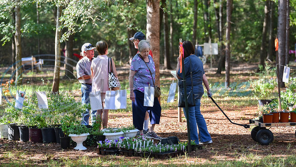 Jacksonville residents headed to Ruth Bowling Nichols Arboretum for their annual Scarecrow Trail opening day which included a one-day plant sale. The two-week event will run from October 5 through 17 and is hosted by the Cherokee County Master Gardeners. (Jessica T. Payne/Tyler Morning Telegraph)