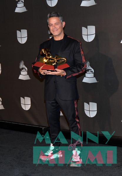 LAS VEGAS, NV - NOVEMBER 14:   Alejandro Sanz at the Latin Grammys at the MGM Grand in Las Vegas, Nevada on November 14, 2019. (Photo by Manny Hernandez)