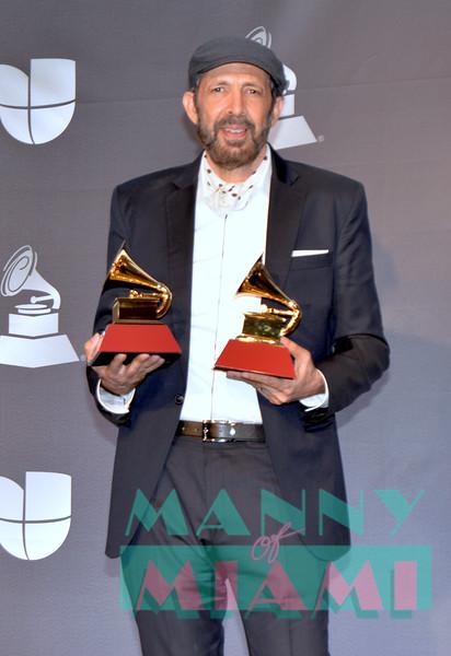 LAS VEGAS, NV - NOVEMBER 14:  Juan Luis Guerra at the Latin Grammys at the MGM Grand in Las Vegas, Nevada on November 14, 2019. (Photo by Manny Hernandez)