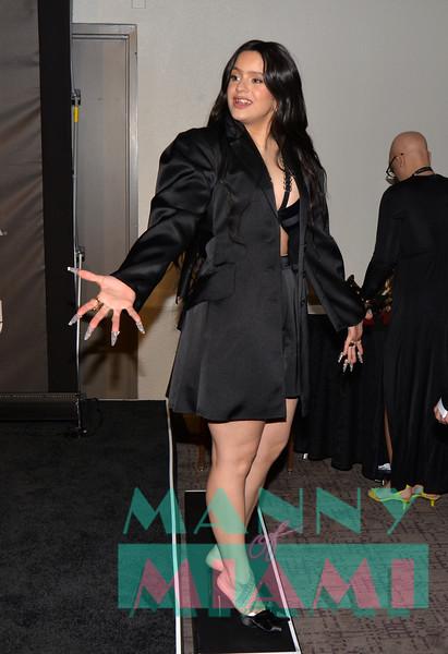 LAS VEGAS, NV - NOVEMBER 14:   Rosalia at the Latin Grammys at the MGM Grand in Las Vegas, Nevada on November 14, 2019. (Photo by Manny Hernandez)