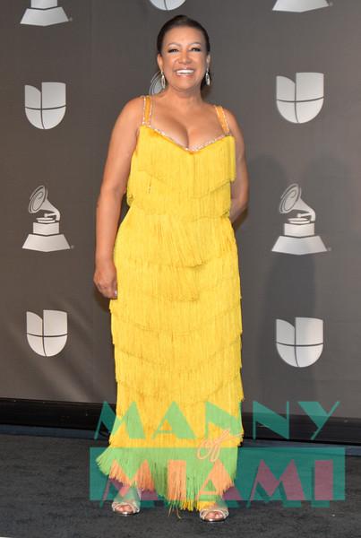LAS VEGAS, NV - NOVEMBER 14: Milly Quesada at the Latin Grammys at the MGM Grand in Las Vegas, Nevada on November 14, 2019. (Photo by Manny Hernandez)