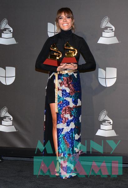 LAS VEGAS, NV - NOVEMBER 14:   Katy Garcia at the Latin Grammys at the MGM Grand in Las Vegas, Nevada on November 14, 2019. (Photo by Manny Hernandez)