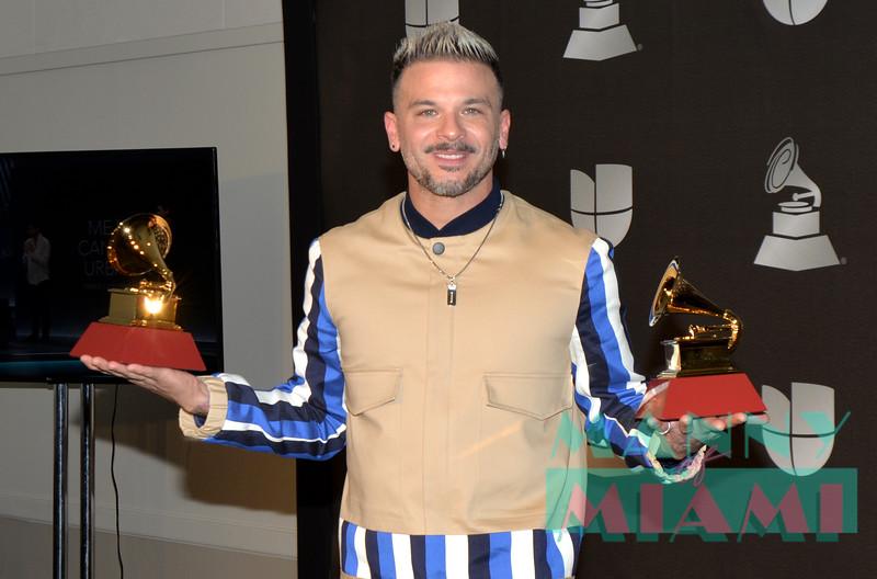 LAS VEGAS, NV - NOVEMBER 14:   Pedro Capo at the Latin Grammys at the MGM Grand in Las Vegas, Nevada on November 14, 2019. (Photo by Manny Hernandez)