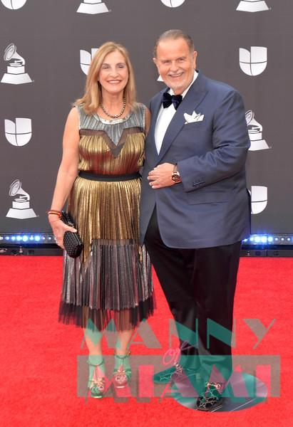 LAS VEGAS, NV - NOVEMBER 14:  Mily De Molina, Raul De Molina at the Latin Grammys at the MGM Grand in Las Vegas, Nevada on November 14, 2019. (Photo by Manny Hernandez)
