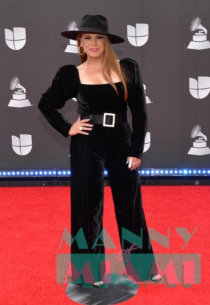 LAS VEGAS, NV - NOVEMBER 14:  Olga Tanon at the Latin Grammys at the MGM Grand in Las Vegas, Nevada on November 14, 2019. (Photo by Manny Hernandez)