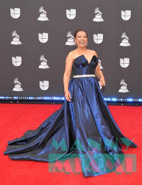 LAS VEGAS, NV - NOVEMBER 14:  Milly Quezada at the Latin Grammys at the MGM Grand in Las Vegas, Nevada on November 14, 2019. (Photo by Manny Hernandez)