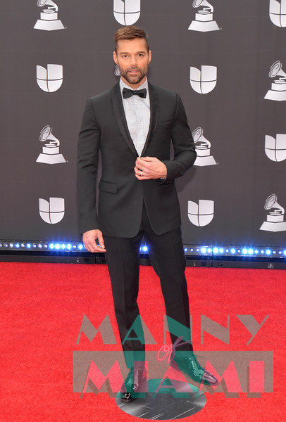 LAS VEGAS, NV - NOVEMBER 14:  Ricky Martin at the Latin Grammys at the MGM Grand in Las Vegas, Nevada on November 14, 2019. (Photo by Manny Hernandez)