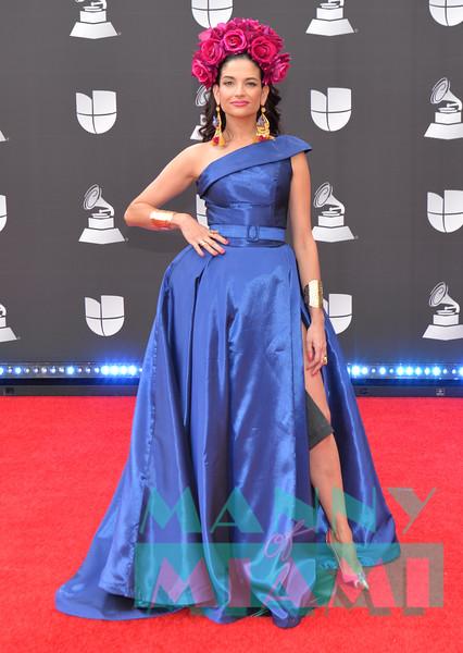 LAS VEGAS, NV - NOVEMBER 14:  Natalia Jimenez at the Latin Grammys at the MGM Grand in Las Vegas, Nevada on November 14, 2019. (Photo by Manny Hernandez)