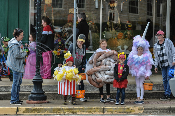 Children dressed in Halloween costumes are all smiles while attending the annual Scare on the Square event in downtown Rusk. The event, hosted by the Rusk Chamber of Commerce, took place on Thursday, November 1. (Jessica T. Payne/Tyler Morning Telegraph)