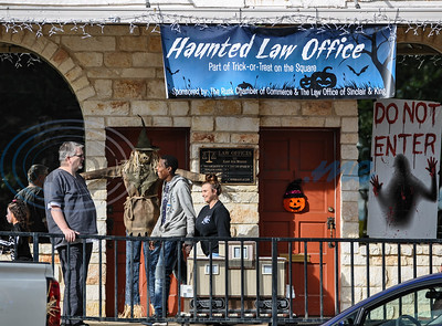 The Law Office of Sinclair & King held a haunted house for Rusk residents attending the annual Scare on the Square on Thursday, November 1. The event is hosted by the Rusk Chamber of Commerce. (Jessica T. Payne/Tyler Morning Telegraph)