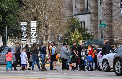 Downtown Rusk closes streets on Thursday, November 1 for the city's annual Scare on the Square. The Halloween event is hosted by the Rusk Chamber of Commerce and several local businesses participate. (Jessica T. Payne/Tyler Morning Telegraph)