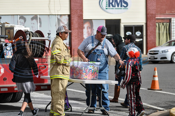 Reklaw Fire Department was on hand to pass out candy at Scare on the Square Thursday, November 1. The event took place in downtown Rusk and was hosted by Rusk Chamber of Commerce. (Jessica T. Payne/Tyler Morning Telegraph)