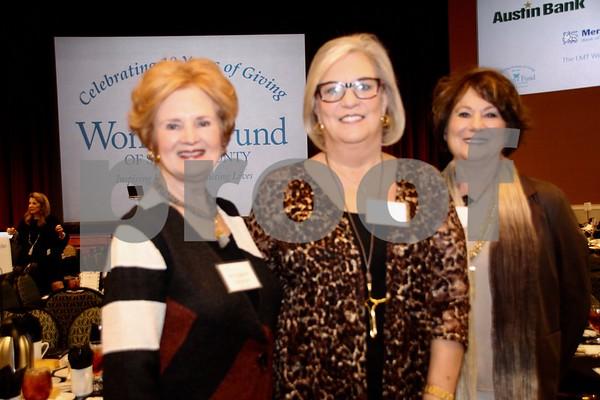 (L) Margaret Stewart, (C) Judy Hill, (R) Martha Griffith