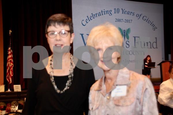 (L) Julie Launey and (R) Ann Crofton