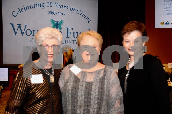 (L) Evelyn Muntz, (C) Pam Liser, (R) Nez Gross