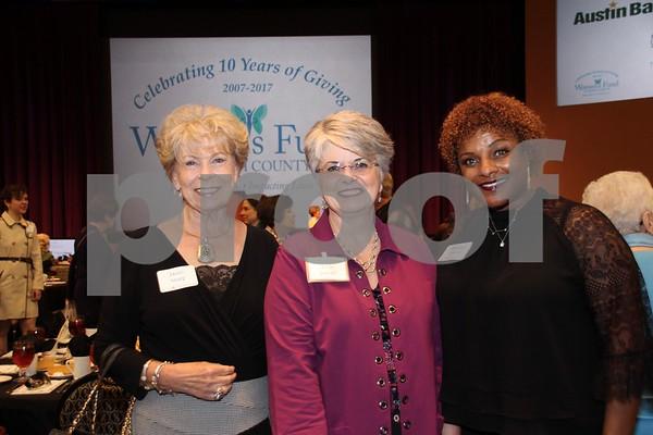 (L) Doris Sharp, (C) Vicki Sorrell, (R) Dorothy Duncan
