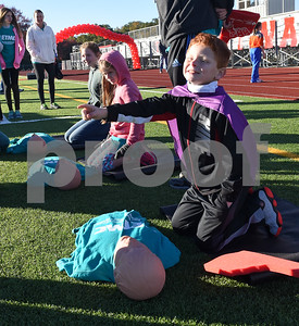 Cadyn Gipson, 8, leans CPR at Tyler Heart Walk benefiting the American Heart Association Saturday Nov. 19, 2016 at Robert E. Lee High School.  (Sarah A. Miller/Tyler Morning Telegraph)