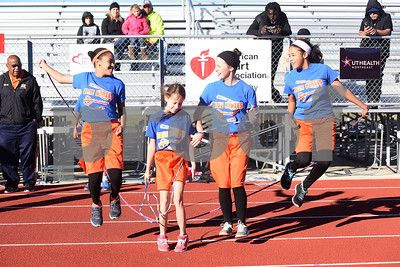 The Blue Blazes homeschool jump rope team from Mineola performs at Tyler Heart Walk benefiting the American Heart Association Saturday Nov. 19, 2016 at Robert E. Lee High School.  (Sarah A. Miller/Tyler Morning Telegraph)