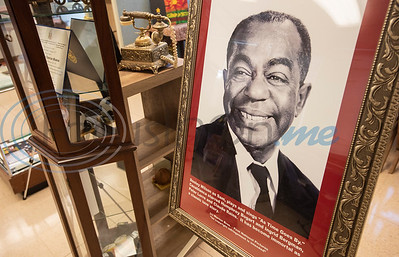 """Actor and musician Arthur """"Dooley"""" Wilson was born in Tyler, and his photo is included in the collection at the Texas African American Museum, 3000 North Border Ave. in Tyler. The museum is a branch of the Empowerment Community Development Corporation.   (Sarah A. Miller/Tyler Morning Telegraph)"""