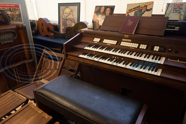 An organ donated from Macedonia Baptist Church of Chandler is part of the collection at the Texas African American Museum, 3000 North Border Ave. in Tyler. The museum is a branch of the Empowerment Community Development Corporation.   (Sarah A. Miller/Tyler Morning Telegraph)
