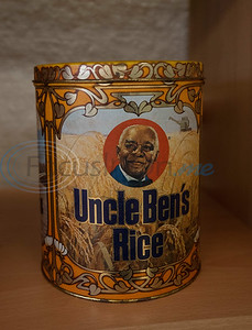 A vintage Uncle Ben's Rice canister is part of the collection at the Texas African American Museum, 3000 North Border Ave. in Tyler. The museum is a branch of the Empowerment Community Development Corporation.   (Sarah A. Miller/Tyler Morning Telegraph)
