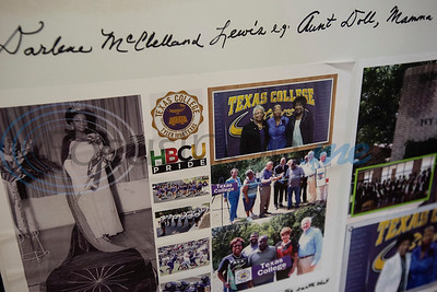 Photographs from Texas College are part of the collection at the Texas African American Museum, 3000 North Border Ave. in Tyler. The museum is a branch of the Empowerment Community Development Corporation.   (Sarah A. Miller/Tyler Morning Telegraph)