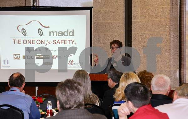 Colleen Sheehey-Church, National President for MADD addresses the luncheon.
