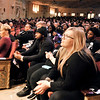 John P. Cleary | The Herald Bulletin<br /> Despite the weather a large crowd gathered at the Paramount Theatre for the 38th annual Anderson city-wide Dr. Martin Luther King, Jr. celebration Monday.