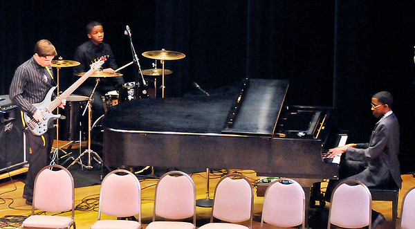 John P. Cleary | The Herald Bulletin<br /> The A Town Trio played two selections for the 38th annual Anderson city-wide Dr. Martin Luther King, Jr. celebration.