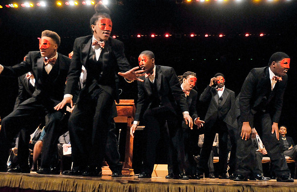 John P. Cleary    The Herald Bulletin<br /> Distinguished Gentlemen of Spoken Word were the guest speakers/performers for the 37th annual Anderson city-wide Dr. Martin Luther King, Jr. Celebration.