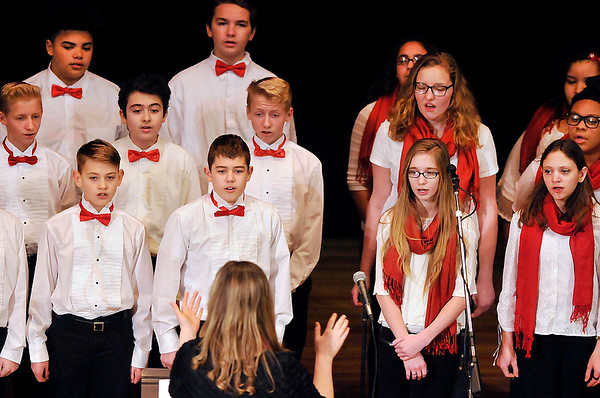 John P. Cleary |  The Herald Bulletin<br /> Liberty Christian Choir sings several selections during the 37th annual Anderson city-wide celebration of Dr. Martin Luther King, Jr.