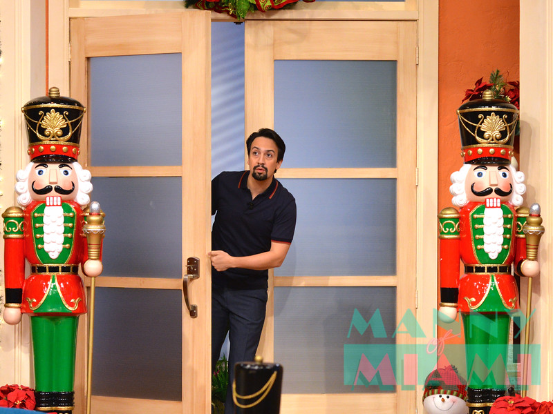 MIAMI, FL - DECEMBER 19:  Lin-Manuel Miranda visits morning show Despierta America at Univision Studios December 19, 2018 in Miami, FL. (Photo by Manny Hernandez/Getty Images)