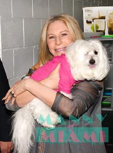 12-5-16 - Barbra Streisand Backstage in Miami
