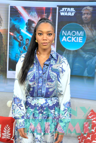 MIAMI, FL - DECEMBER 9:  Naomi Ackie promotes Star Wars: The Rise of Skywalker at Despierta America morning show at Univision Studios on December 9th, 2019 in Miami, FL (Photo by Manny Hernandez)