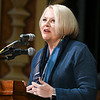 John P. Cleary | The Herald Bulletin<br /> State Rep. Terri Austin speaks at the annual Anderson city-wide celebration of Dr. Martin Luther King Jr.