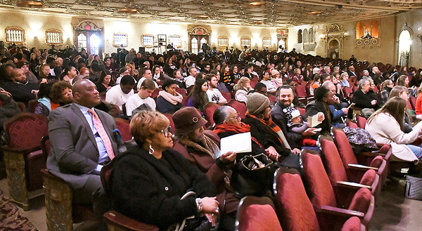 John P. Cleary | The Herald Bulletin A large crowd gathered for the annual Anderson city-wide celebration of Dr. Martin Luther King Jr. at the Paramount Theatre.