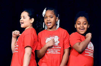John P. Cleary | The Herald Bulletin Students from the Excel Learning Academy perform  during the Anderson city-wide celebration of Dr. Martin Luther King Jr.
